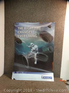 3D Michelin Advertisement Poster