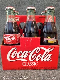 1998 Six Packs of Coca Cola 8 oz Bottles