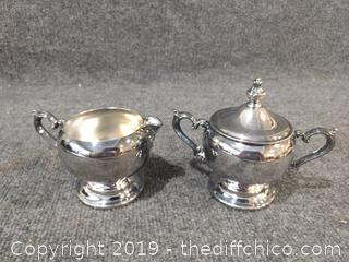 W.M. Rogers Silver Plate Sugar and Cream Set