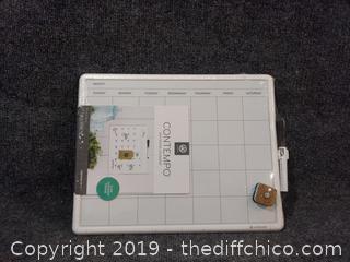 """Contempo Dry Erase Calendar - 11"""" x 14"""" - NEW"""