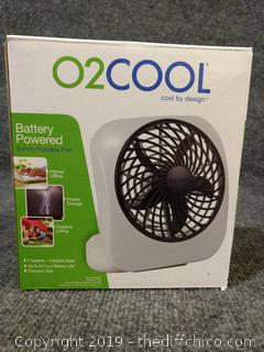 "O2Cool Battery Powered 5"" Portable Fan - NEW"