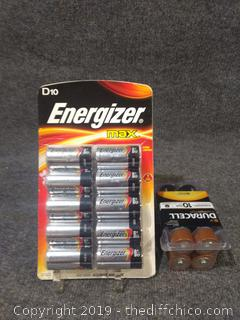 D Batteries - NEW - 2 Packs