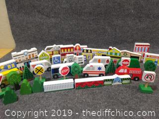 Melissa and Doug Wooden Town