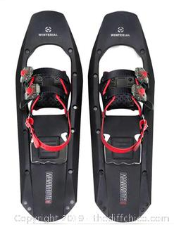 Winterial Mammoth Snowshoes 25-Inch Lightweight Polymer Square Toed  Snow Shoes A9