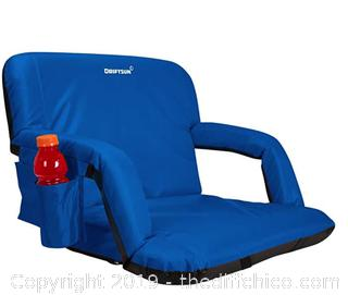 Driftsun Extra Wide Deluxe Reclining Stadium Seat, Bleacher Chair with Back Support A8