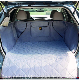 FrontPet Extra Wide Quilted Dog Cargo Cover for SUV Grey XL - X36