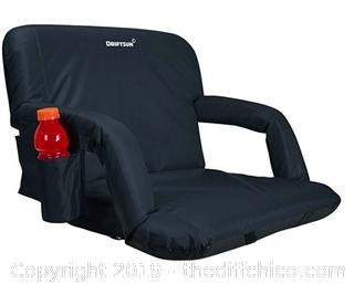 Driftsun Black XL Reclining Stadium Bleacher Seat. A32