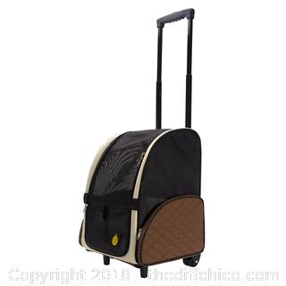 FrontPet Rolling Pet Travel Carrier/Pet Carrier with Wheels/with Backpack Straps X44