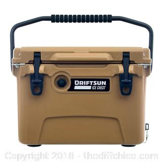 Tan Driftsun 20 Quart Ice Chest, Heavy Duty, High Performance Commercial Grade Insulated Cooler