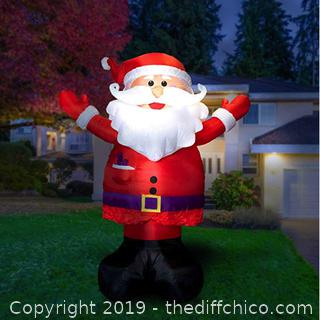 Holidayana 10ft Inflatable Santa Christmas Decoration X35