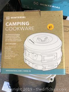 Winterial Camping Cookware and Pot Set, 10 Piece Set for Camping X10