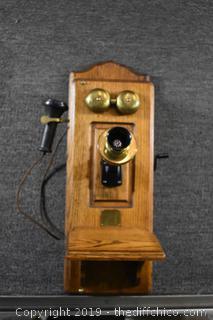 Oak Vintage Phone