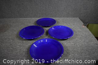 Set of 4 Blue Replacement Dishes