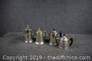 4 Vintage Coffee Pots