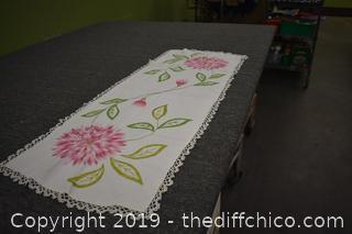 Hand Embroiderer Runner