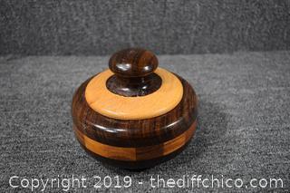 Wood Hand Made Box w/Lid