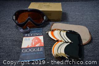 Vintage US Army Flying Googles