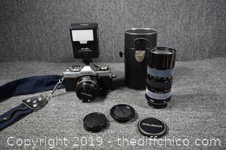 Minolta XG-9 Camera, Flash and 70-150mm Lens