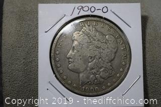 1900-o Morgan Dollar 90% Silver