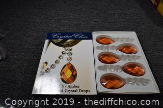 5 Amber Crystal Drops