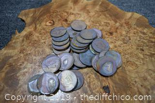 Lot of Half Dollars from Camp Fire
