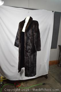 Natural Ranch Mink Coat w/Appraisal - 51in Length