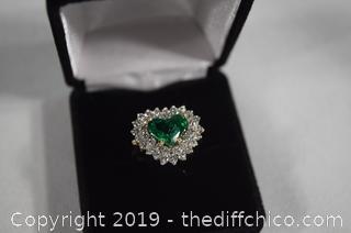 Ladies Diamond Emerald Ring - see appraisal
