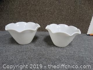 White Glass Bowls