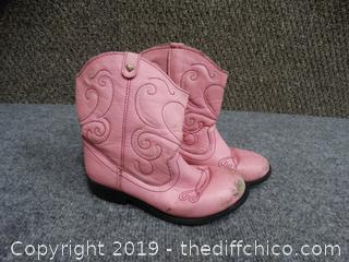 Pink little Girl Boots Size 11