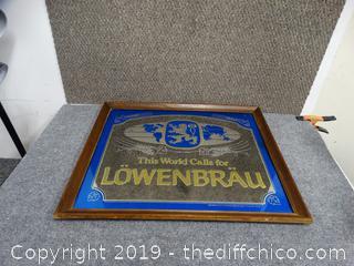 Lowenbrau beer mirror