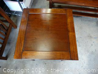 """Wood End Table T-22"""" W-22"""" D-22"""""""