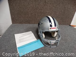 Troy Aikman Signed Helmet With COA