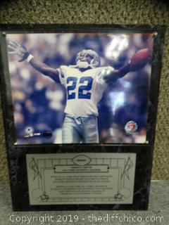 Emmitt Smith All Time Rushing Leader Plaque