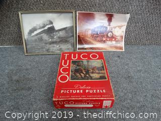 Tuco Puzzle and Train Pics