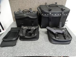 Leather Motorcycle Bags New With Carry Bags