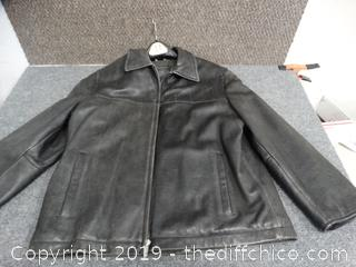 Mens Guess Leather Jacket (L)