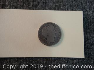 1901 Half Dollar Coin