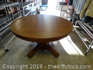 Quarter Sawn Oak Veneer Table, Over 100 Years Old Please Look At Pics