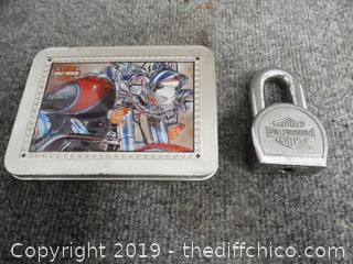 Harley Davidson Cards & Lock