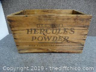 Hercules Powder Wood Crate
