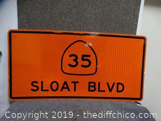 Metal Sign 4ft X 2ft