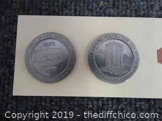 1967 $1 Mapes Casino token