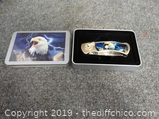 Eagle Pocket Knife with case