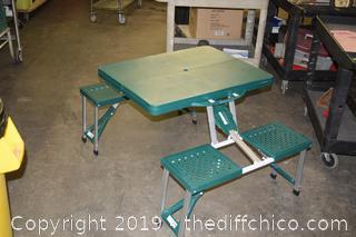 Folding Picnic Table w/Bench Seats