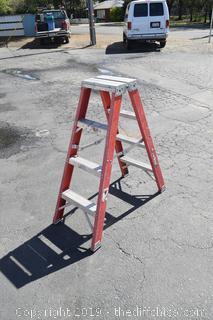 4ft Double Sided Fiberglass Ladder