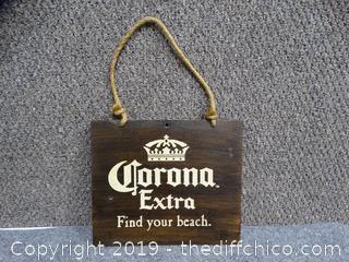 Wood Corona  Sign