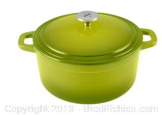 ZELANCIO 6 QUART ENAMELED CAST IRON DUTCH OVEN - GREEN (J10)