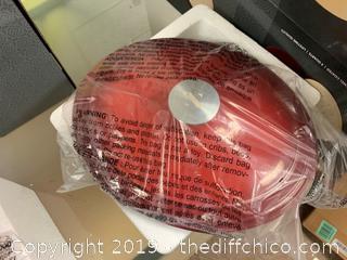 ZELANCIO 6 QUART OVAL ENAMELED CAST IRON DUTCH OVAL - RED (J17)