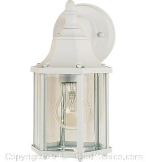 Maxim 1026WT Builder Cast 1 Light 10 inch White Outdoor Wall Mount (J14)
