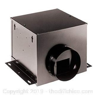 Broan SP200 210 CFM 2 Sone HVI Certified Single-Port In-Line Ventilator (J16)
